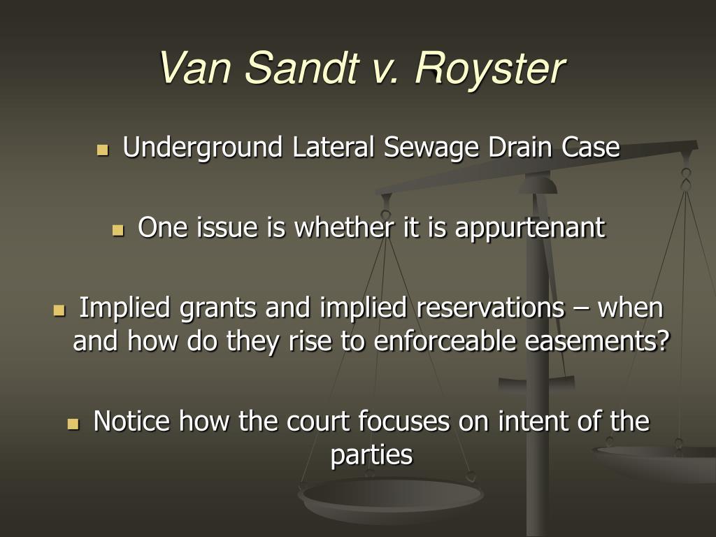 Van Sandt v. Royster