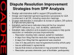 dispute resolution improvement strategies from spp analysis28