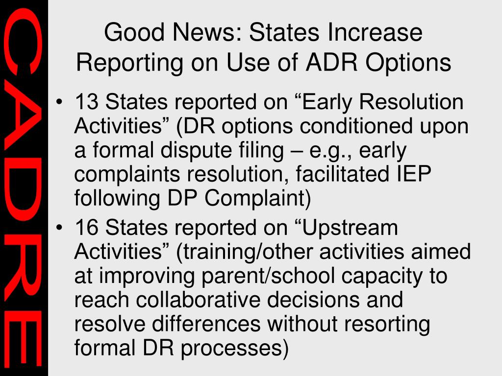 Good News: States Increase Reporting on Use of ADR Options