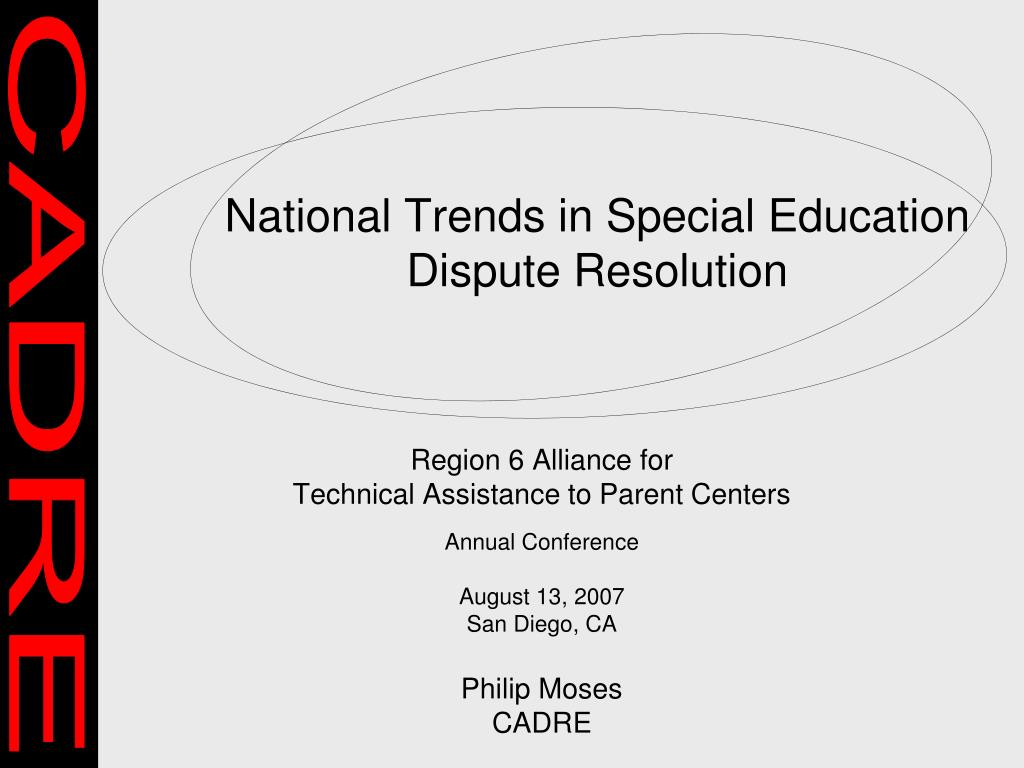 National Trends in Special Education Dispute Resolution