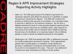 region 6 apr improvement strategies reporting activity highlights