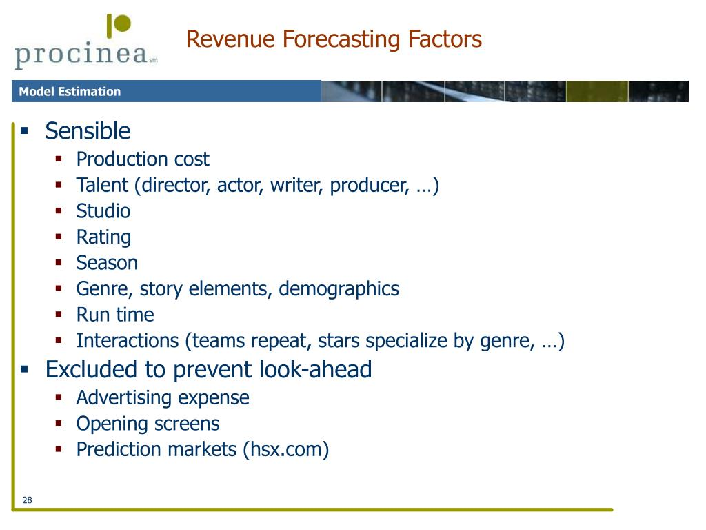Revenue Forecasting Factors
