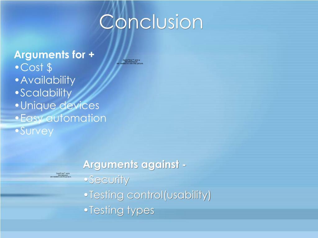 Arguments for +