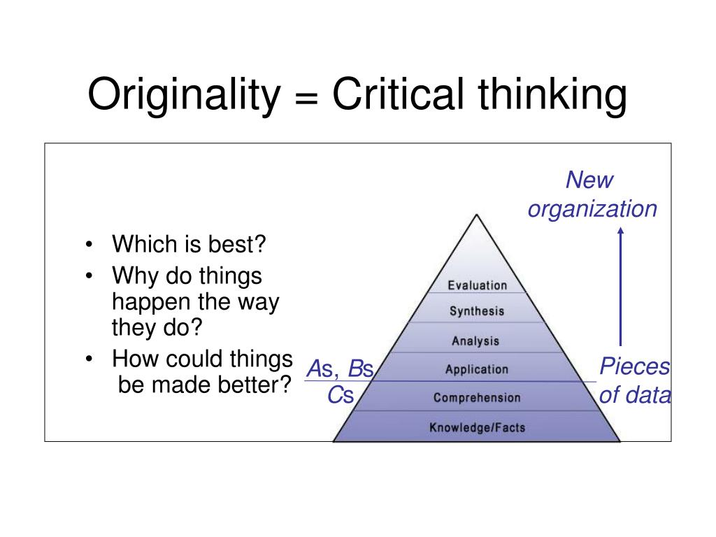 Originality = Critical thinking