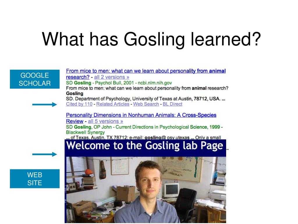 What has Gosling learned