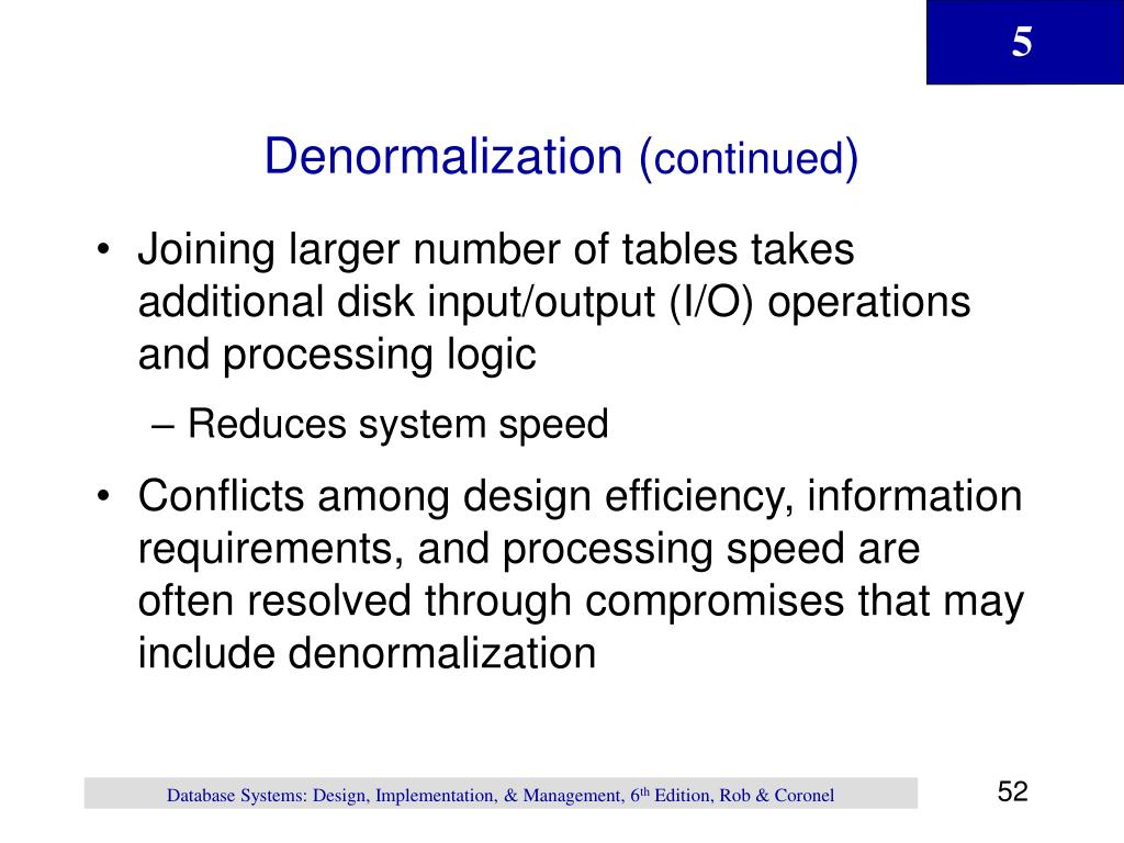 Denormalization (