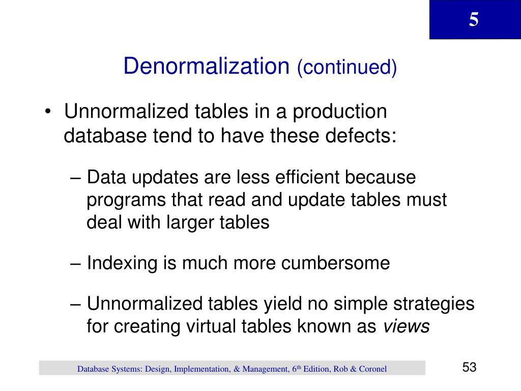 Denormalization