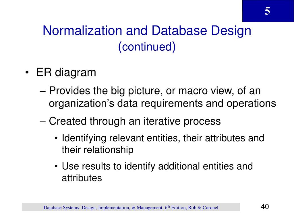 Normalization and Database Design (