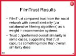 filmtrust results