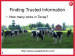 finding trusted information
