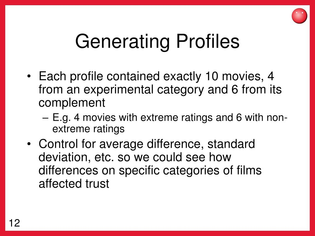 Generating Profiles