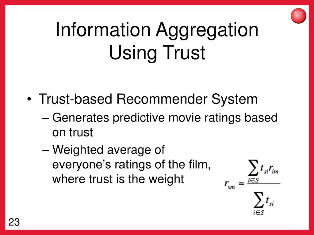 Information Aggregation