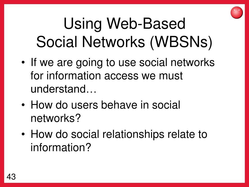 Using Web-Based