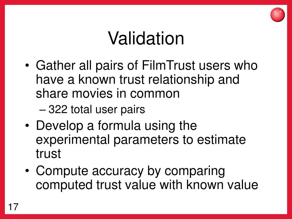 Validation