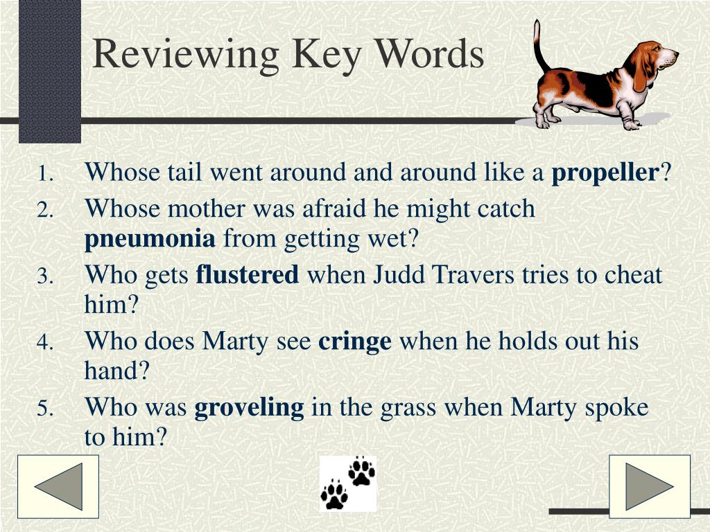 Reviewing Key Words