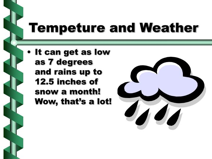 Tempeture and weather l.jpg