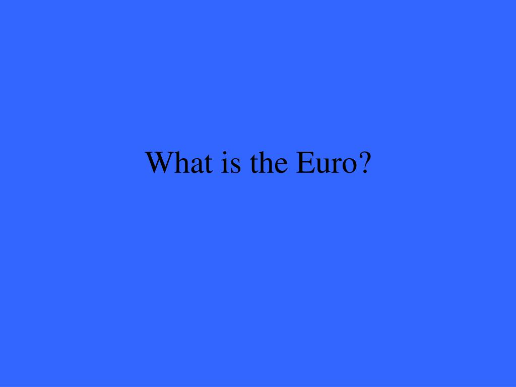What is the Euro?