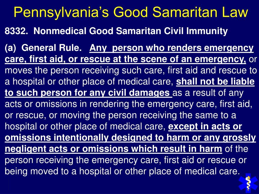 Pennsylvania's Good Samaritan Law