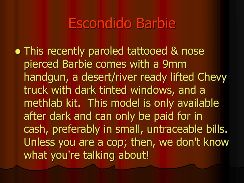 Escondido Barbie