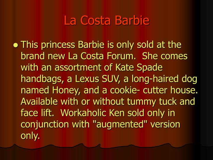 La costa barbie