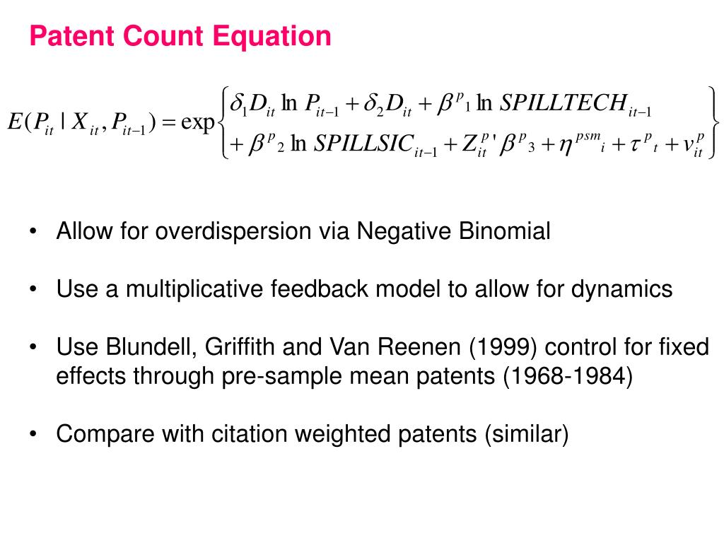 Patent Count Equation