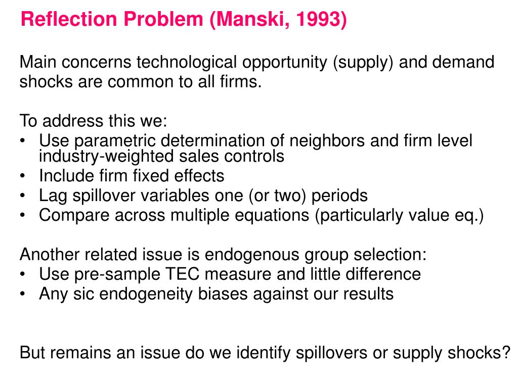 Reflection Problem (Manski, 1993)