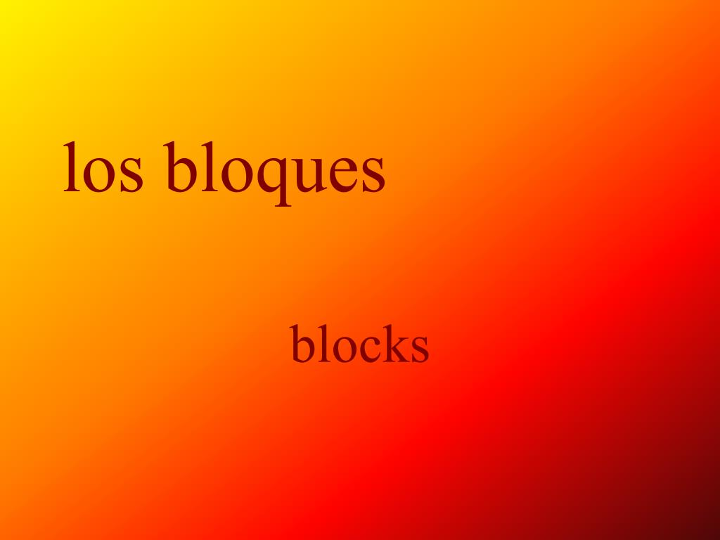 los bloques