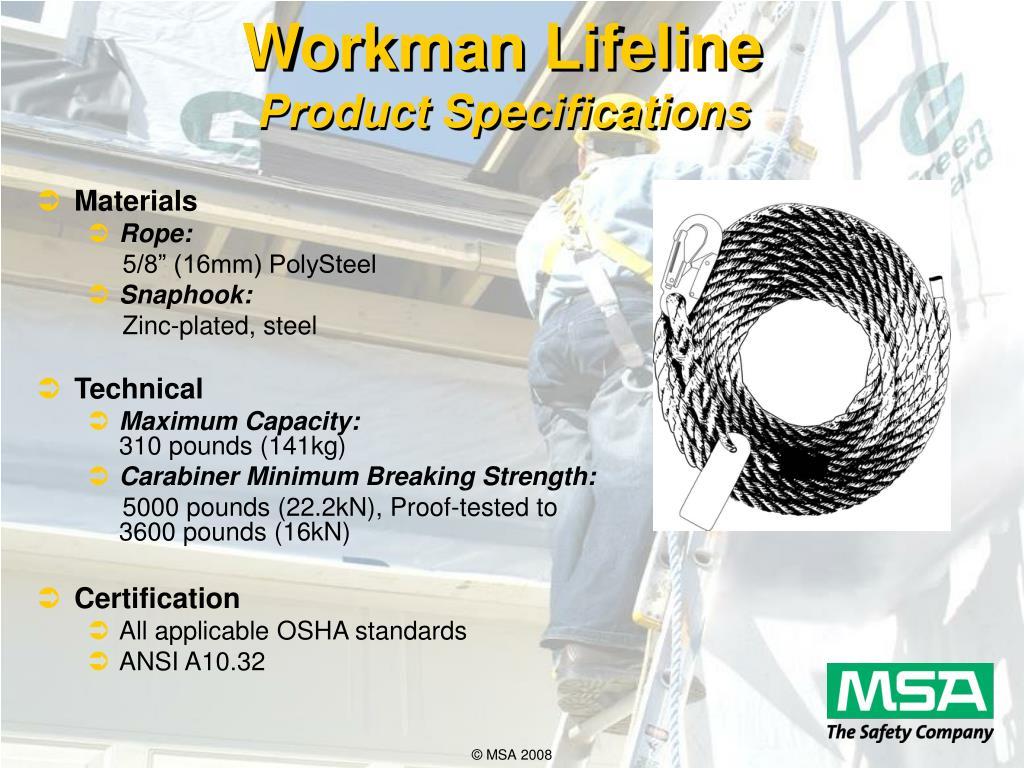 Workman Lifeline