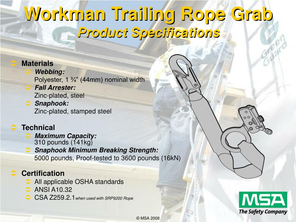 Workman Trailing Rope Grab