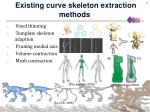 existing curve skeleton extraction methods