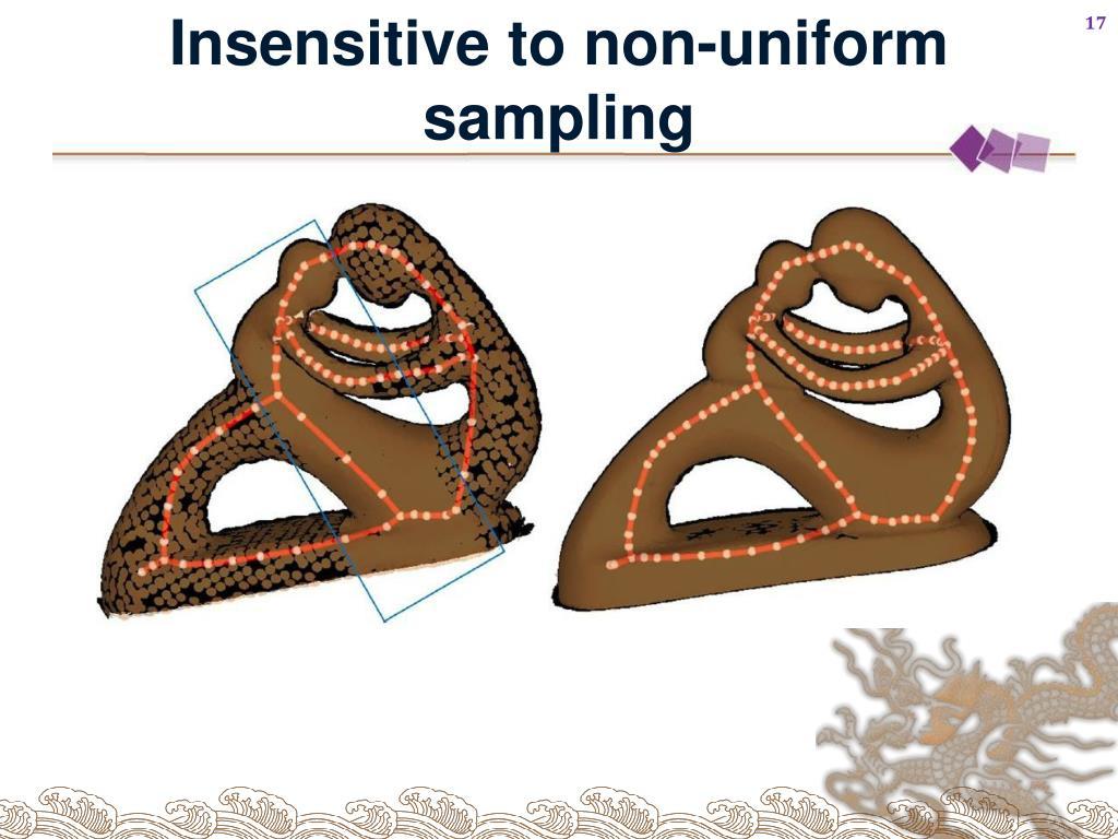 Insensitive to non-uniform sampling