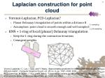 laplacian construction for point cloud