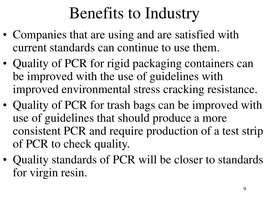Benefits to Industry