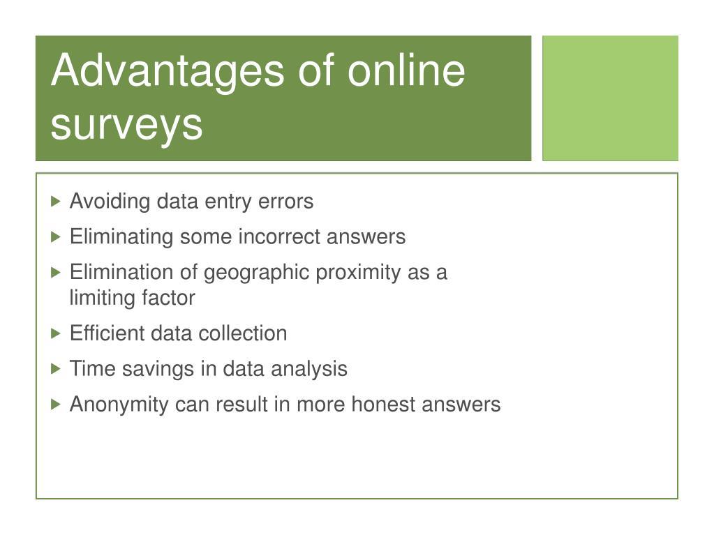 Advantages of online surveys