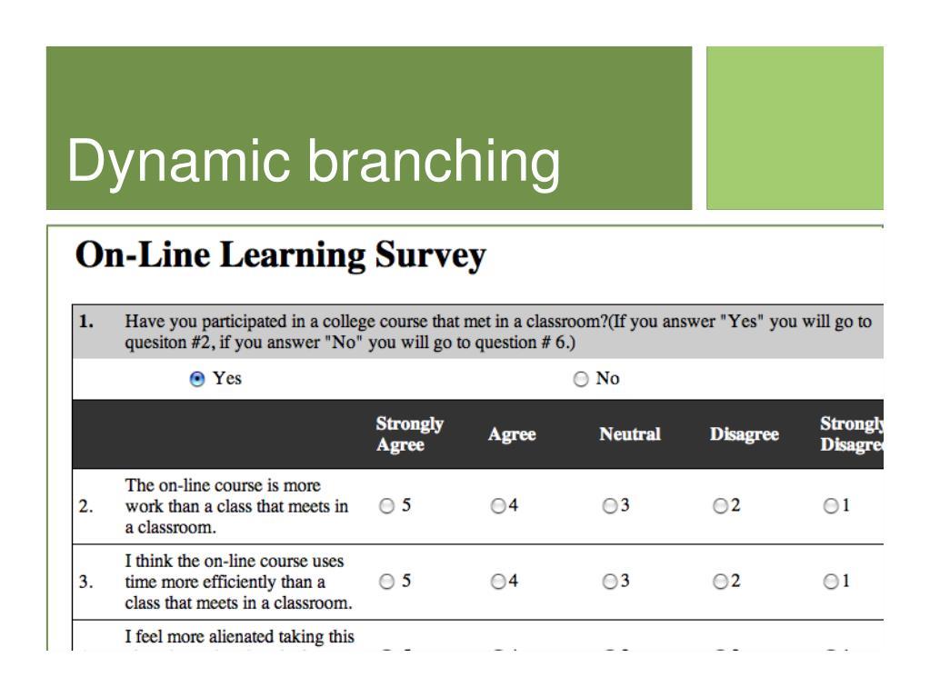 Dynamic branching