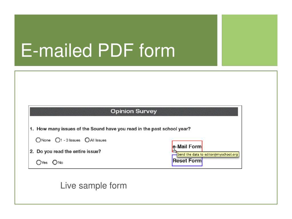 E-mailed PDF form