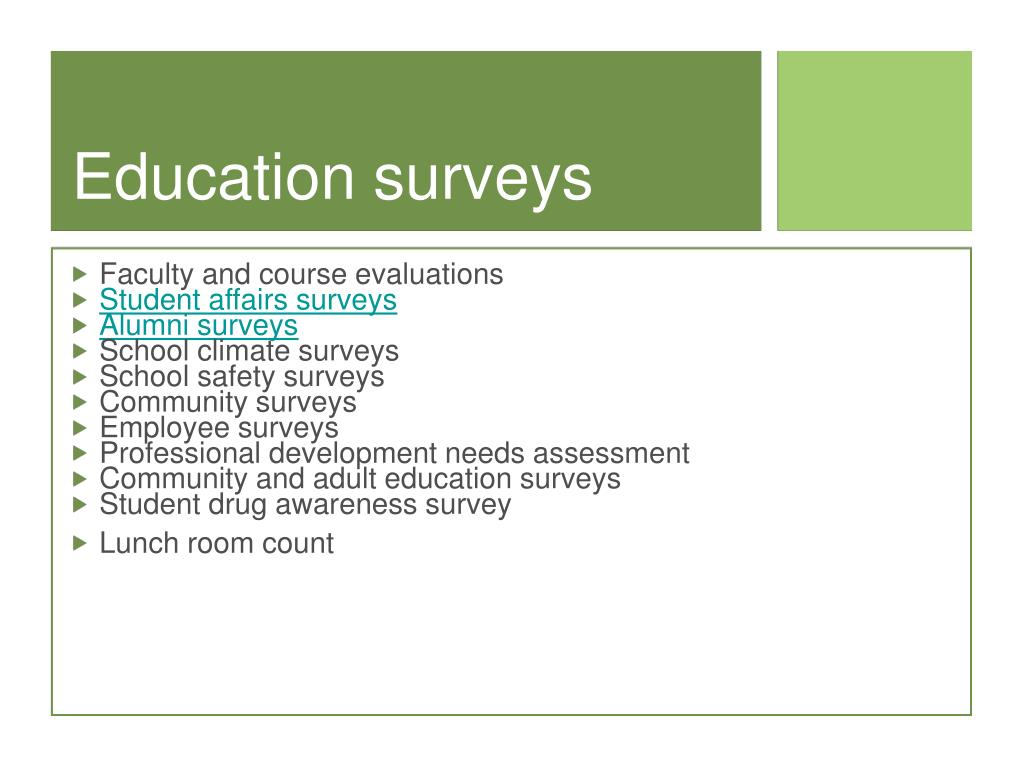 Education surveys