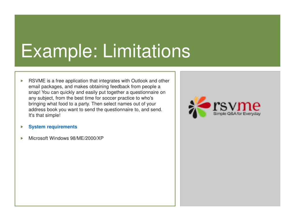 Example: Limitations