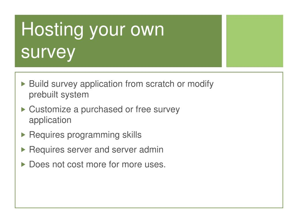 Hosting your own survey