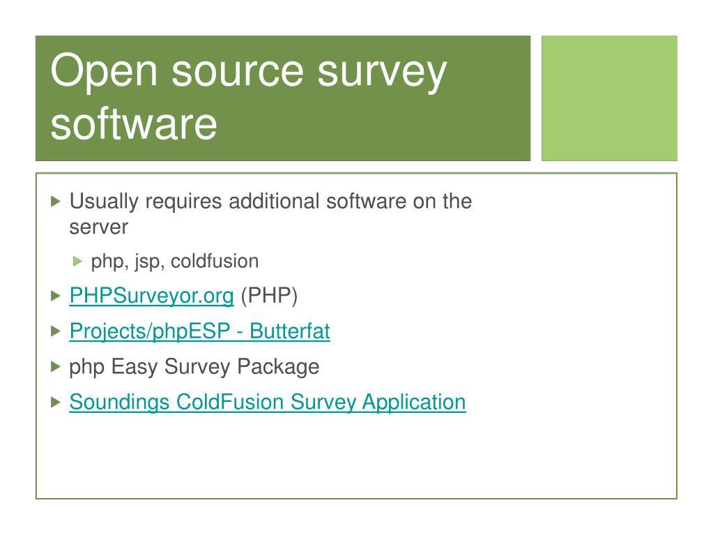 Open source survey software