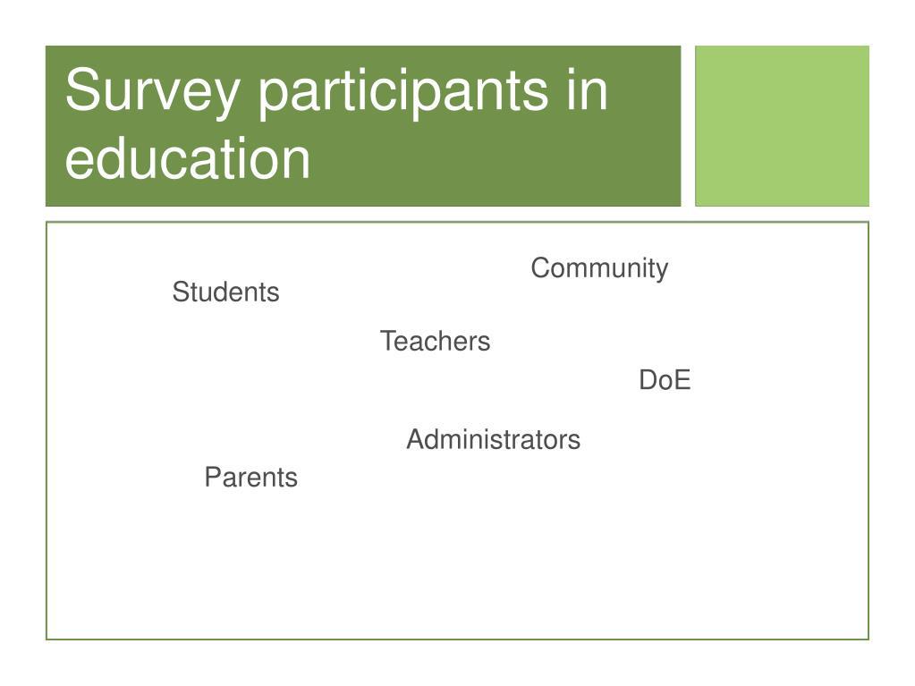 Survey participants in education