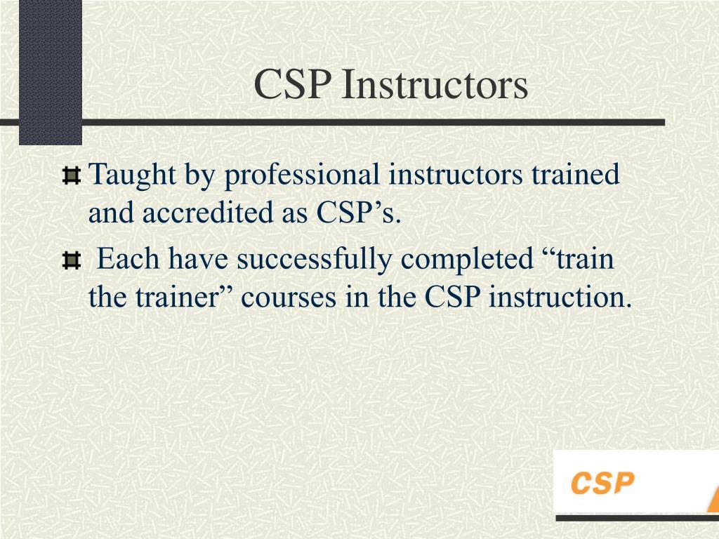 CSP Instructors