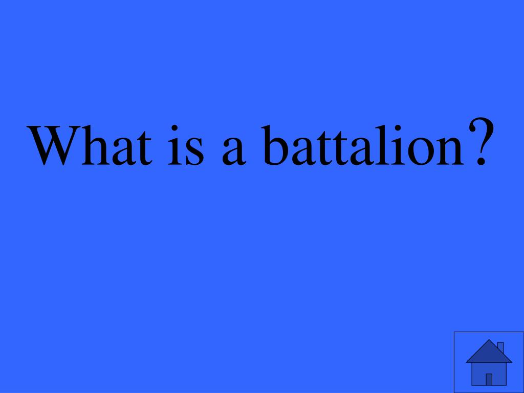 What is a battalion