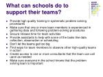 what can schools do to support their teams