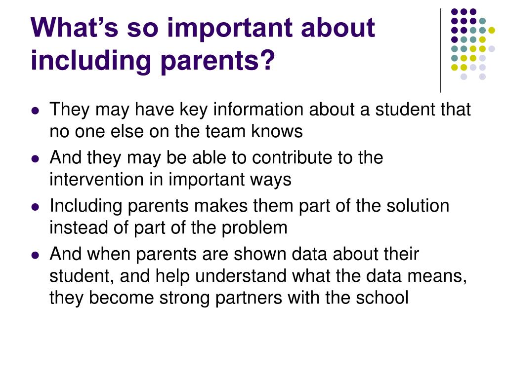 What's so important about including parents?