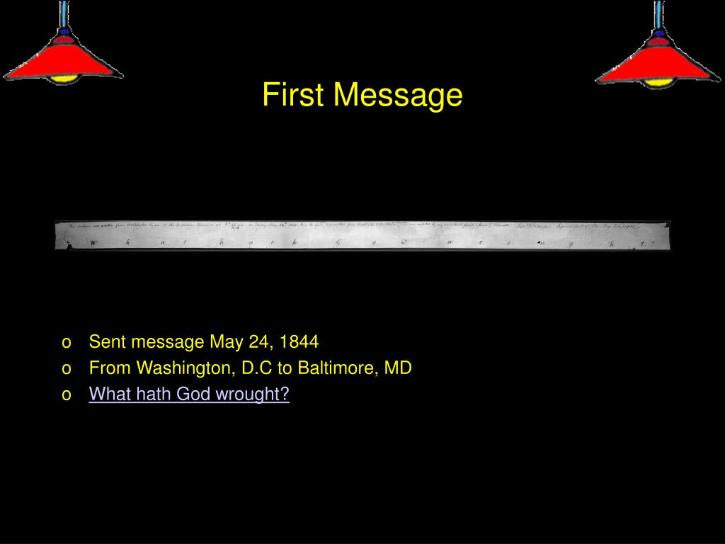 First Message