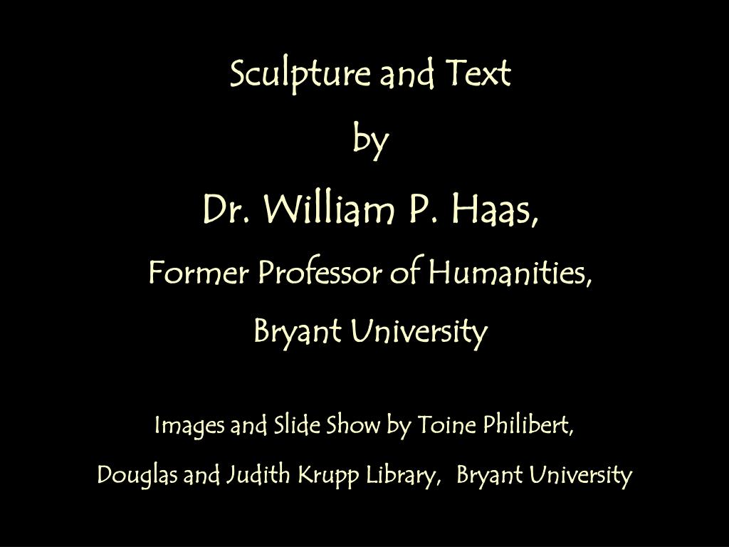 Sculpture and Text