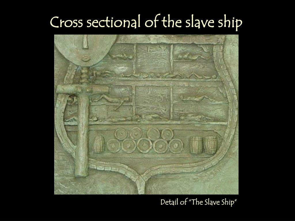 Cross sectional of the slave ship
