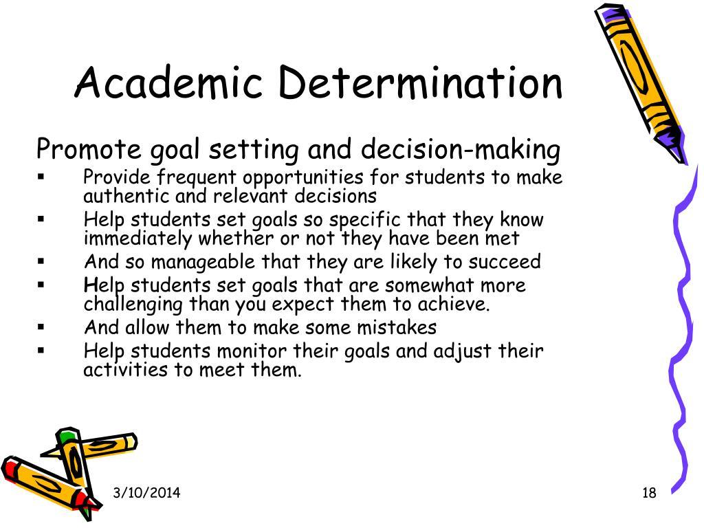 Academic Determination