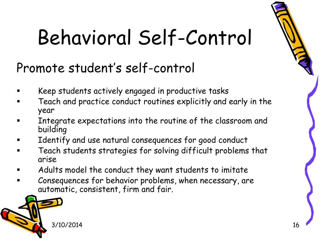 Behavioral Self-Control